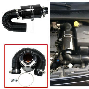 "GEnuine 3"" Filter Carbon Fiber Car Induction Cold Air Intake System+Intake Hose"