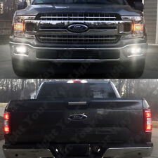 8x Cargo Reverse License Plate Fog Light White LED Bulb Kit For 2018 F150 XL XLT