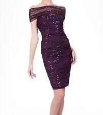 Tadashi Shoji Women's Formal Lace Sequin Off The Shoulder Dress Poppy L *flawed
