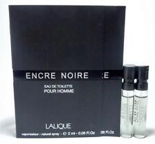 LALIQUE ENCRE NOIRE Eau De Toilette Pour Homme Men 2 ml .06 oz Sample Spray X 2
