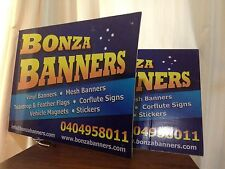 600 x 900 mm CORFLUTE SIGNS FREE SHIPPING & ARTWORK