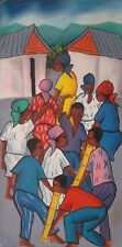 Haitian Painting Maurice Guerre Haiti Artist Listed Signed Oil on Board 01427