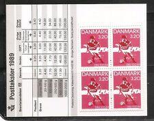 Denmark SC # 866 Danish Soccer Association Centenary. Complete Booklet .MNH