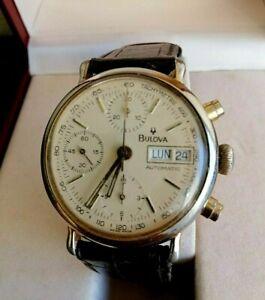 Vintage Bulova Automatic Chronograph Men's Watch Original Box