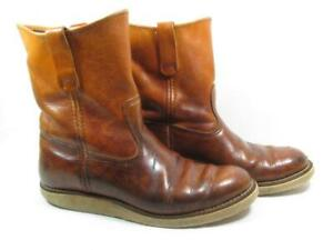 Vintage Red Wing Irish Setter 866 Boot Men size 10 D Old Dog Tag