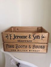 Wooden F Jerome & Son Mayfair Vintage Style Design Wine Crate Box Storage