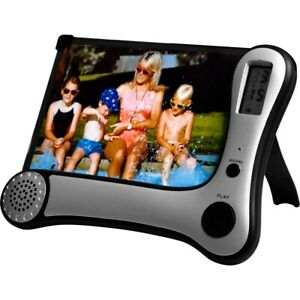 TALKING PHOTO FRAME WITH DIGITAL VOICE RECORDER AND BUILT IN CLOCK - NEW