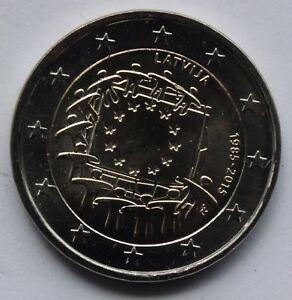 LATVIA - 2 € Euro common commemorative coin 2015 - EU Flag 30