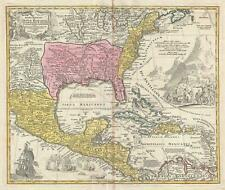 1715 Homann Map of North America and the West Indies