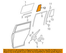 Toyota Oem 08-13 Highlander Glass-Rear Door-Fixed Window Right 681230E030