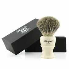 Professional Super Badger Hair Wet Shave Tool, Luxury Soft Bristles Ivory Color