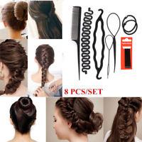 8Pcs/Set Styling Clip Bun Maker Hair Twist Braid Ponytail DIY Tool Accessories