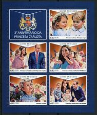 Guinea-Bissau Royalty Stamps 2018 MNH Princess Charlotte Prince William 5v M/S