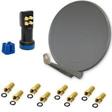 PremiumX Deluxe 80 A SAT Installation pour 4 participants antenne 80 cm alu quad LNB DEL Set