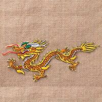 DIY Chinese Dragon Embroidered Sew Iron On Patch Badge Bag Fabric Applique Craft
