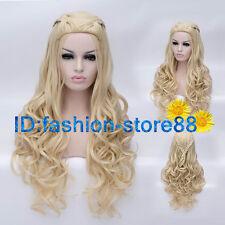 New Daenerys Targaryen Dragon Princess Game of Thrones Braids Blonde cosplay wig