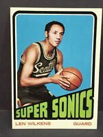 1972 Topps Len Wilkins #81 Seattle Supersonics NM