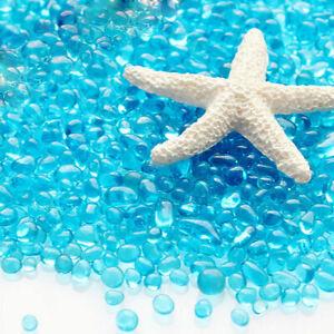 Bag of Aquarium Glass Mini Stones Fish Tank Gravel Decoration Sand Rock-Blu E7H8