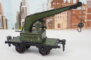 Antique 1910 Marklin O Gauge No.1851 10000K Crane Car
