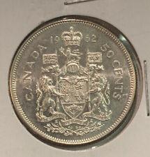 1962 Canada Silver 50 Cents Elizabeth II Fifty Cent Half Dollar Coin