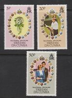 1981 Royal Wedding Charles & Diana MNH Stamp Set Tristan Da Cunha SG 308-310