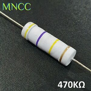 5 Watt 470KΩ 5% Metal Oxide Film Resistor 470K Ohm MO/X 700V 24mm Axial