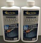 Lot Of 2 New Star Brite Premium Boat Cleaner Wax For Light-medium Oxidation 16oz