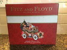 Fitz And Floyd Holiday Musical Santa's Classic Car