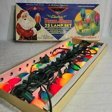 Vintage Christopher Radko Shiny Brite Twirl Rainbow Colors 25 Christmas Lights