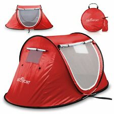 Abco Tech Pop-up Tent Instant Portable Cabana Beach Pop Up Tent For 2 Person Red