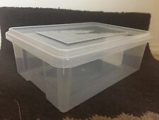 NEW Storage Container Plastic x 4 10L litre capacity with hand grips