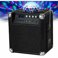 New Holysmoke iDisco Party Machine Bluetooth Speaker Boombox USB SD IR Remote
