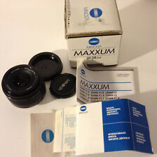MINOLTA MAXXUM AF 28mm f/2.8 Wide Angle Lens w/ Caps and Box. For Sony Alpha.