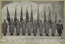 "Russians With Captured Turkish Ottoman Flags at Erzerum World War 1 6x4"" Photo 1"
