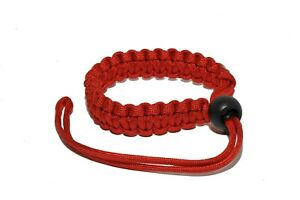 KOOD Paracord Camera Wrist Braided Camera Strap in Red #ACSPWSR (UK Stock) NEW