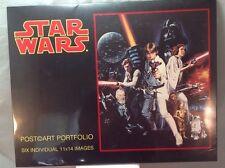 "Star Wars Post Art Portfolio Six 11X14"" IMAGES - vintage 1993 New"