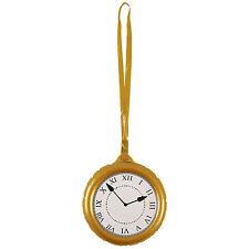 Reloj De Bolsillo Jumbo País De Las Maravillas Conejo Oro Reloj Fiesta Inflable Prop Decoración