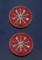 """2 Wyoming COLLAR//LAPEL PINS Silver//Nickel state seal Police//Fire//EMS 15//16/"""" WY"""