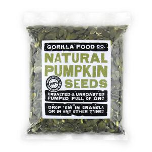 Gorilla Food Co. Natural Pumpkin Seeds - 200g (Great value £ per 1kg)