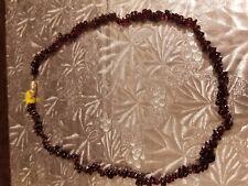 "Genuine GARNET stone necklace, 17"", HAND MADE"