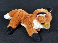 8 Inch Mini Flopsie Foxxie Red Fox Plush Stuffed Animal by Aurora Floppy Beans