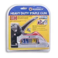Heavy Duty Staple Gun Large Silver Steel Construction Dual Colour Design