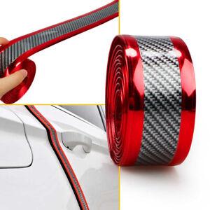 5x100cm Protector Sill Scuff Cover Car Door Carbon Fiber Plate Sticker Scratch