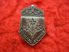 WW II CANADA STERLING SILVER GENERAL SERVICE LAPEL PIN