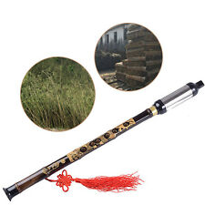 Chinese Yunnan Musical Instrument Black Bamboo BaWu Flute Bawu Pipe Tune G Hot