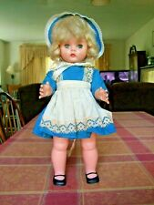 "Horsman Sleepy Eyes Doll T-16 17"" Blond Green Eyes Working Vinyl Plastic"