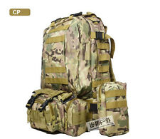 Large Backpack Military Rucksacks Outdoor Tactical MOLLE Camping Hiking Bags 55l CP Camo