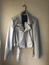 Womens Leather Moto jacket (grey) from Bebe medium sized never worn