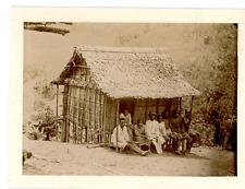 Madagascar, Une tribu malgache Vintage albumen print Tirage albuminé  12x17