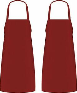 "Pack of 2 Cooking Apron For Men Women Kitchen Bib Aprons 32 x 28"" Utopia Kitchen"